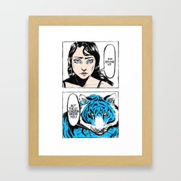 But the Ice Kingdom Needs You - Full Illustration Blue Framed Art Print