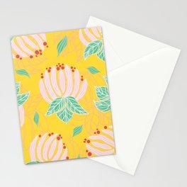 Blush Bloom Peony Lemon Stationery Cards