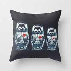 Nesting Doll X-Ray Throw Pillow