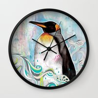 king Wall Clocks featuring KING by Mat Miller