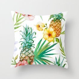 Pineapple Mood Throw Pillow