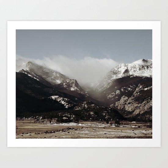 Snow Clouds Art Print