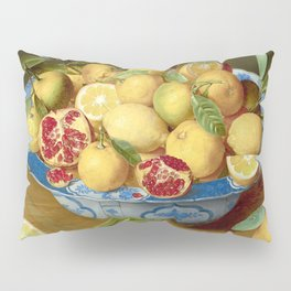 Still Life with Lemons, Oranges and a Pomegranate Pillow Sham