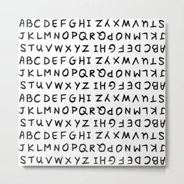 ABC on White Metal Print