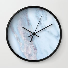 Light Blue Gray Marble Wall Clock