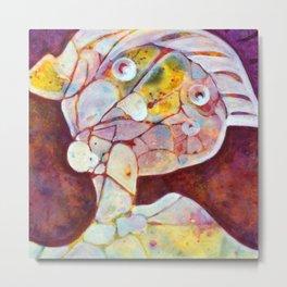 Portrait, Abstract, Modern Art, Original, Painting, Figurative Painting, contemporary art, home déco Metal Print