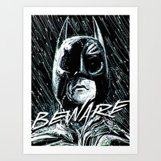 Beware of the Bat Art Print
