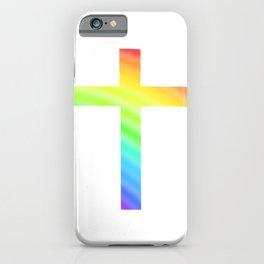 Cross Colorful Believe Faith Church Pray iPhone Case