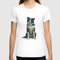 border collie T-shirts featuring border collie by phil art guy