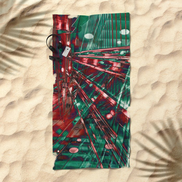 Abstract City Lines Beach Towel