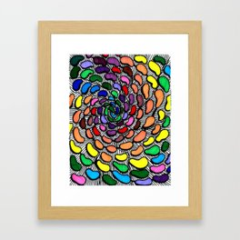 The Jelly Bean Explosion Framed Art Print