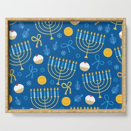 Hanukkah Menorah Pattern Serving Tray