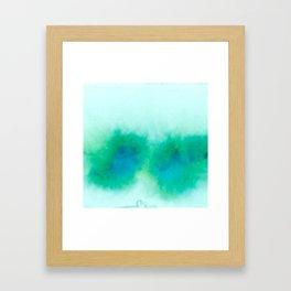 Green Blue Haze Framed Art Print