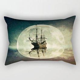 ghost ship moonlight Rectangular Pillow
