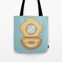 scuba Tote Bags featuring Scuba by CaseyIllustrates