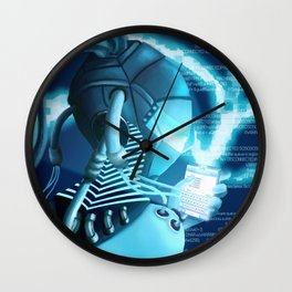 Plugged In/ Blue Wall Clock