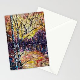A Beautiful Sunset That Was Mistaken For A Dawn Stationery Cards