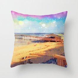 Nags Head Pier Throw Pillow