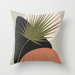 Tropical Leaf- Abstract Art 5 Throw Pillow