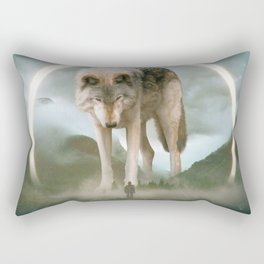 aegis | wolf Rectangular Pillow