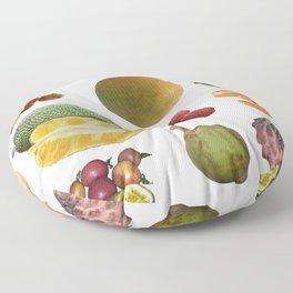 Exotic Fruit Collage Floor Pillow