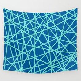 Lazer Dance Blue Wall Tapestry