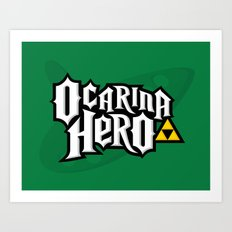 Ocarina Hero Art Print