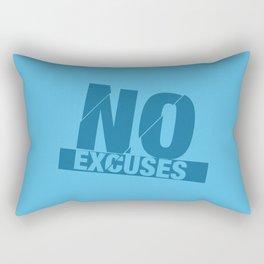 No Excuses - Blue Rectangular Pillow
