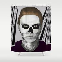 ahs Shower Curtains featuring AHS : PSYCHOPATH by Andrea Valentina