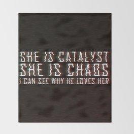 ILLUMINAE | She is Chaos Throw Blanket