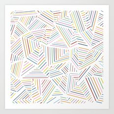 Ab Linear Rainbowz Art Print
