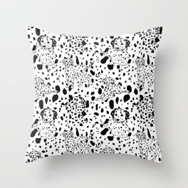 Dalmatian Daze Throw Pillow