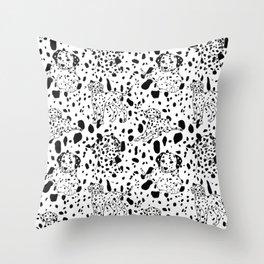 Dalmatian Daze Throw Pillow