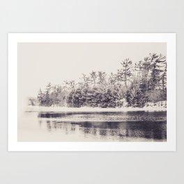 Papermill Lake Art Print