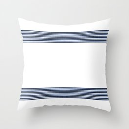 Band in Navy Throw Pillow