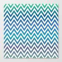 chevron Canvas Prints featuring Chevron by David Zydd