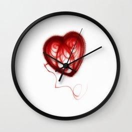 Wool Heart of mine Wall Clock
