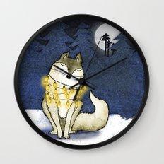 Peace under the Moon Wall Clock