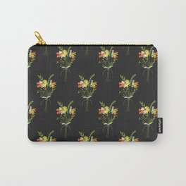 Dark floral hand drawn bouquet pattern Carry-All Pouch