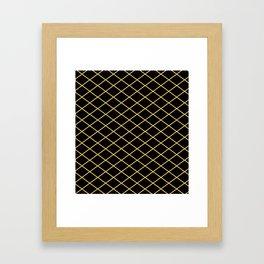 Diamond Lines - Gold Framed Art Print
