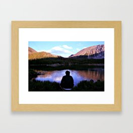 Storm Lake, Montana Framed Art Print