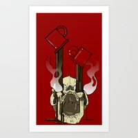 pocket fuel Art Prints featuring Skull Fuel by Allbrotnar