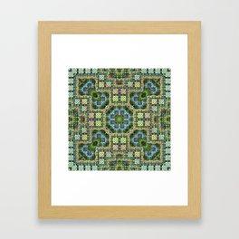 """""""Needlepoint Sampler"""" (3D Fractal) Framed Art Print"""