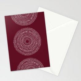 BOHO SPIRAL RED Stationery Cards