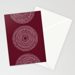 BOHO SPIRAL RED Stationery Cards