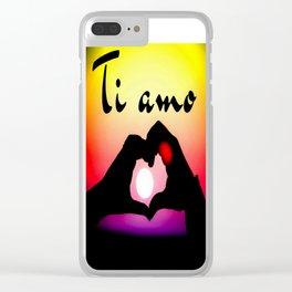 Ti amo in popart Clear iPhone Case