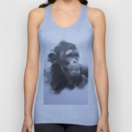 Animals and Art - young Chimp Unisex Tank Top