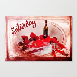 Saturday Shoes Canvas Print