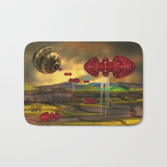 Transform those nightmares into beautiful imagery, and sleep well Bath Mat
