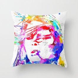Bardot Watercolor Throw Pillow